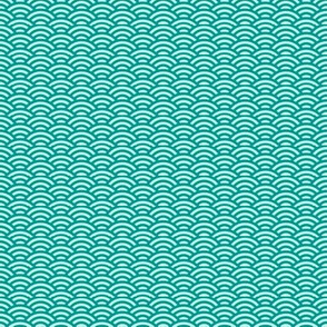 teal and light aqua mini-scallop