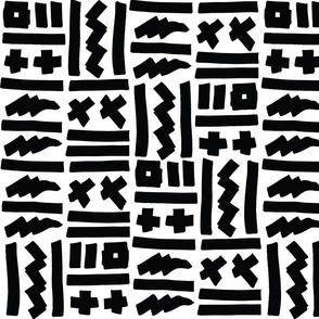Tribal Rocker - Black and White
