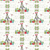 White Christmas LG Personalized  gray small 2015