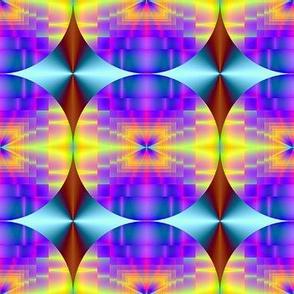 fractal diamond-blue