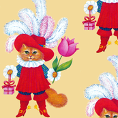 cats kittens pussy musketeers soldiers guards gifts presents flowers tulips boots fairy tales vintage retro kitsch