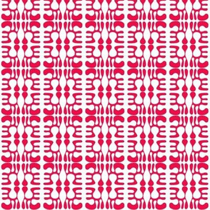 Tribal Abstract Red White