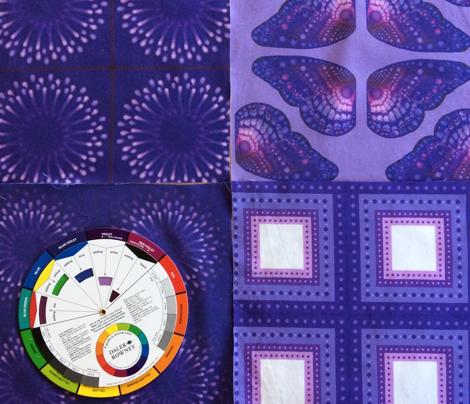 Purple Polka Dot Square