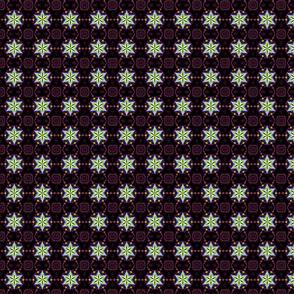 fractal star -black and  pink
