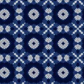 Indigo Shibori Kaleidoscope