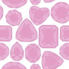 Geo Cut Diamonds, Amethyst Purple