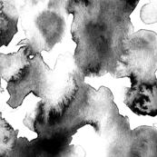 Black Watercolor Abstract