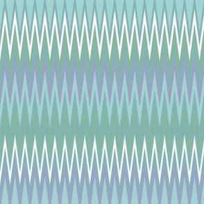 Skinny Chevron in Blues and Greens