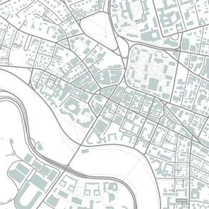 Harvard Square grey city streets fabric (Cambridge, MA)