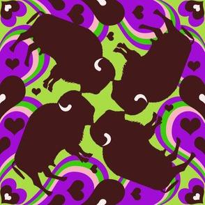 Buffalo Love — Purple & Green