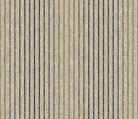 Weathered ticking stripe - denim