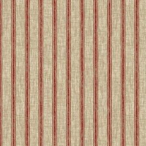 Weathered Ticking Stripe - red