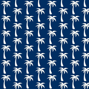large NAVY palm Trees - deep blue