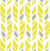 Mountain Arrow Feathers -Yellow/Green/Gray Palette
