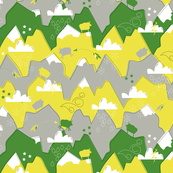 The Sure -Footed Mountain Goat - Yellow/Green/Gray Palette