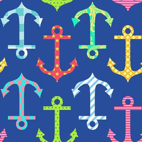 Colorful Anchor Navy