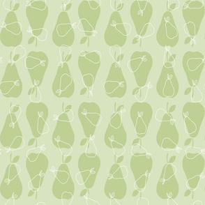 Small Pears on Light Green