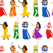 Belly Dancers - Rainbow Colors