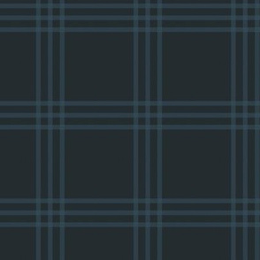 "3"" charcoal-navy checker tartan"