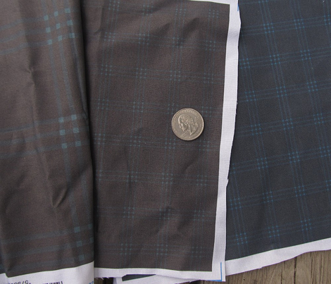 "1"" charcoal-brown jacket tartan"