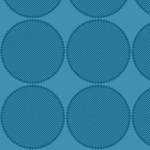 Pear Spots Blue on Blue
