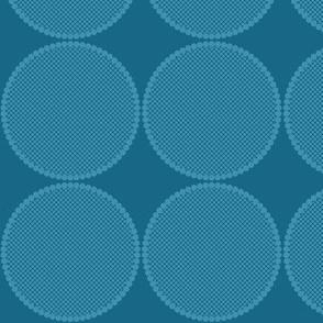 Pear Spots Reverse Blue on Blue