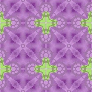 Sailing Away Purple and Green Geometric