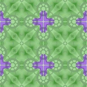 Sailing Away in Green & Purple Geometric