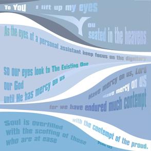 Psalm 123 - blue