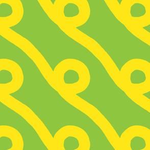 Green Yellow Spiral