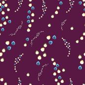 Botanical glimmering streams on violet