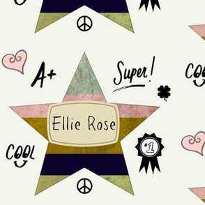 Star Notes Pink Personalized