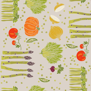 vegetable toss on grey
