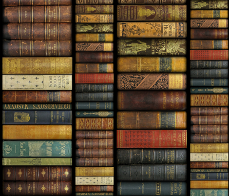 Monsieur Fancypantaloons' Instant Library ~ Two Sizes ~ Border Print