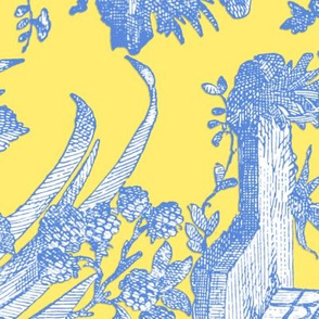 Chinoiserie Toile ~ Provence ~ Border ~ Retreat on Citron Presse'
