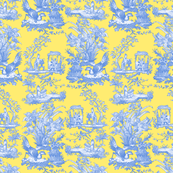 Chinoiserie Toile ~ Provence ~ Retreat on Citron Presse'
