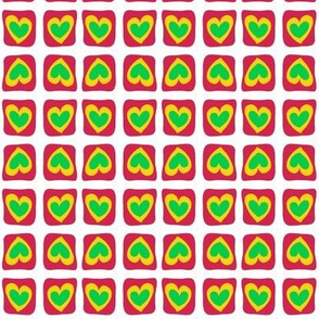 Jealous Hearts Green Red
