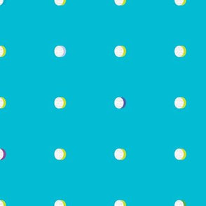 butterfly dots aqua