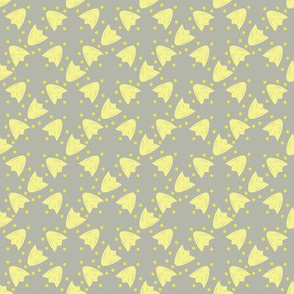 Yellow Tulip - Grey