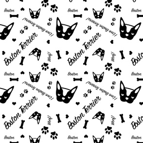 Boston Terrier Fabric
