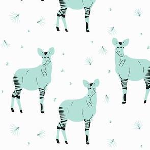 Okapi pale blue