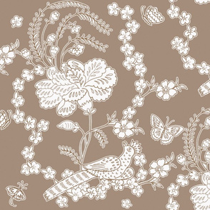 Edith Swan Neck Toile in brown sugar