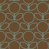 MCM Florabunda Aqua on Brown