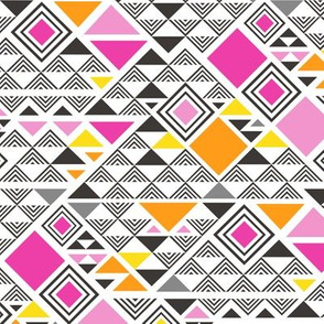 Squares&Triangles in Pink