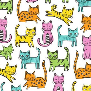 Cats with Stripes Coloured