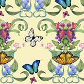 butterfly baroque yellow