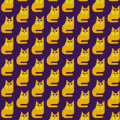 Gold Cat on Purple