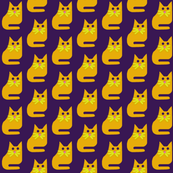 Gold Cat on Purple