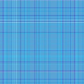 Subtle Blue Plaid