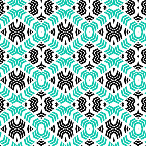 Tribal Diamonds Aqua
